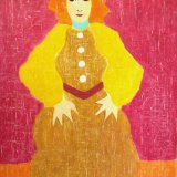 red lady.  acrylic on canvas 83x52cm