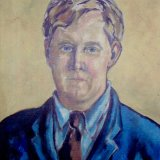 self portrait.  oil on canvas