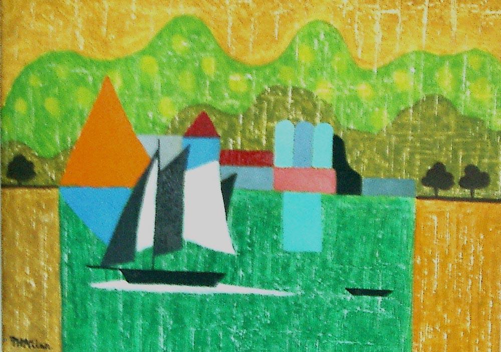 shipshape.  acrylic on canvas 29x38cm