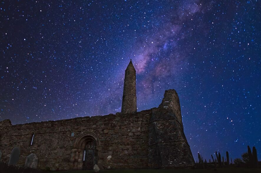 Cathedral-and-Tower-Ardmore-nightime