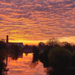 Convent-Bridge-red-sky