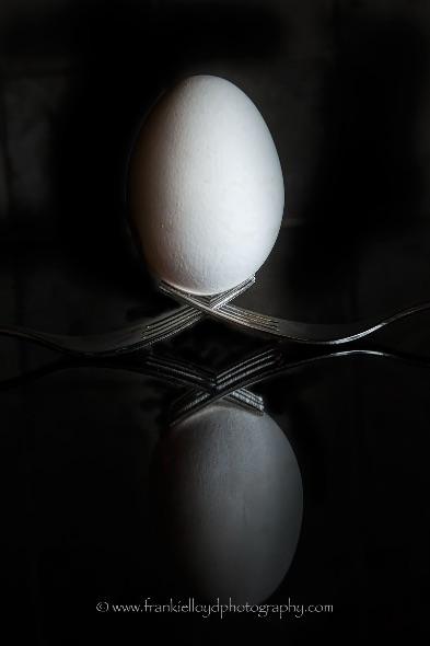 Egg-on-Fork-B&W