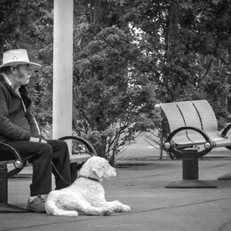 Man-&-Dog-B&W