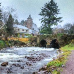 Nire-Bridge-&-Church-painting