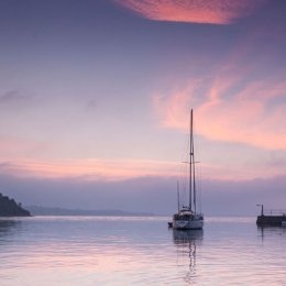 Saling-Boat-Night-time