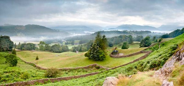 Elterwater And Langdale Mist