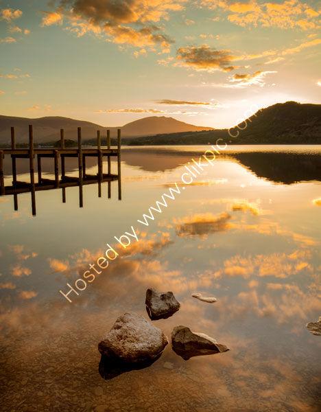 Sunrise At Brandlehow Jetty Derwenwater