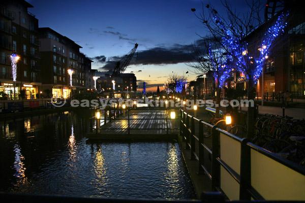 December Evening Gunwharf