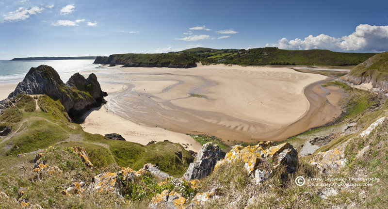 Three Cliffs Pano