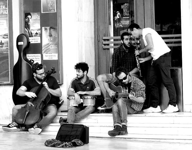 a band in Thessaloniki