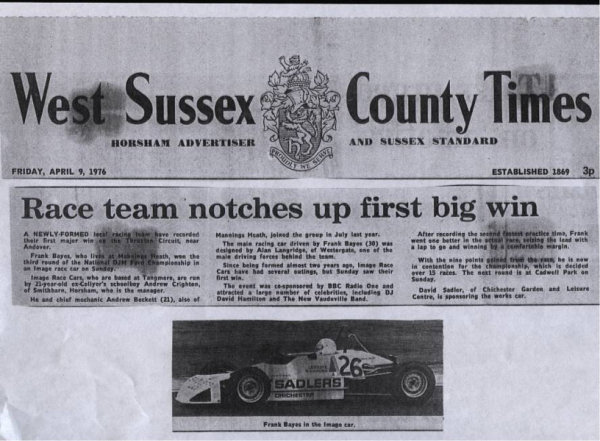First Championship Race Win 1976