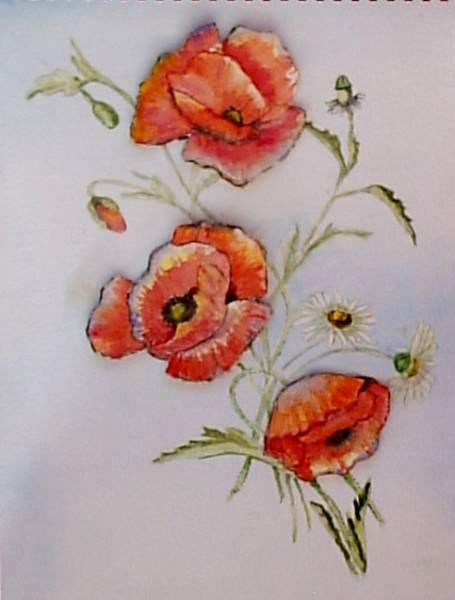 Watercolour Flowers in 3D