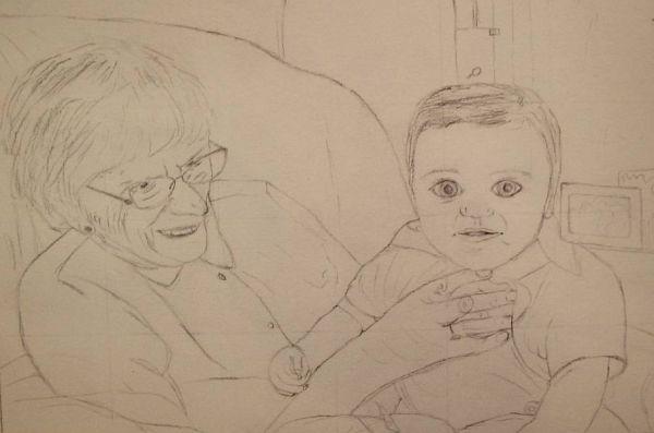 Gran and baby