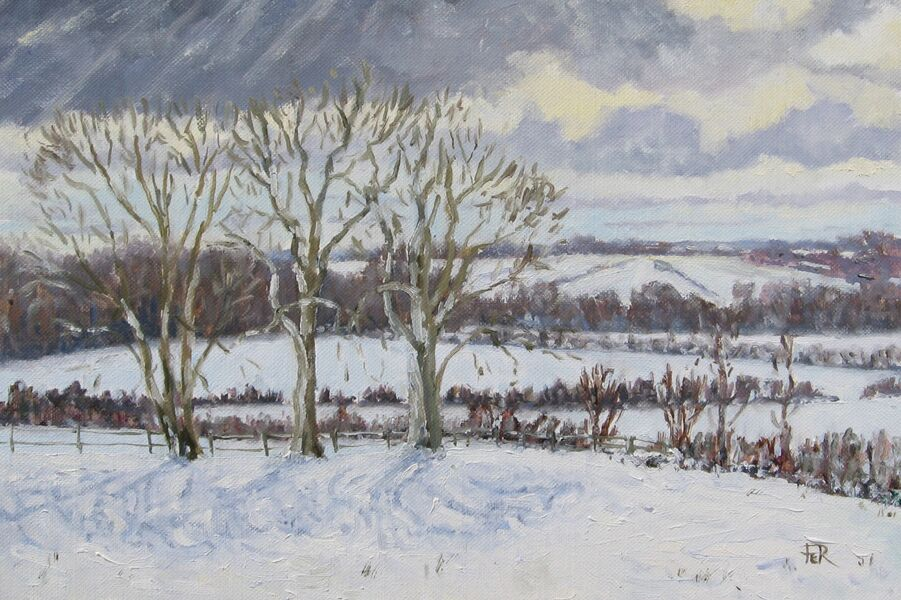 Across the snow covered fields, Benenden