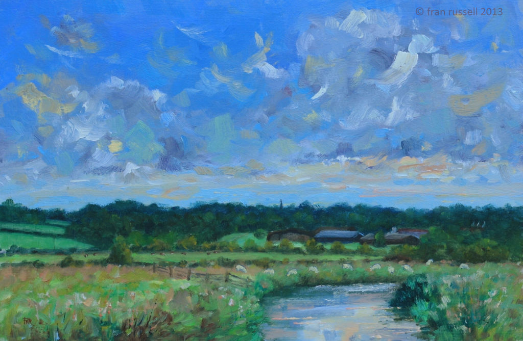 Afternoon glow, The River Rother, Newenden