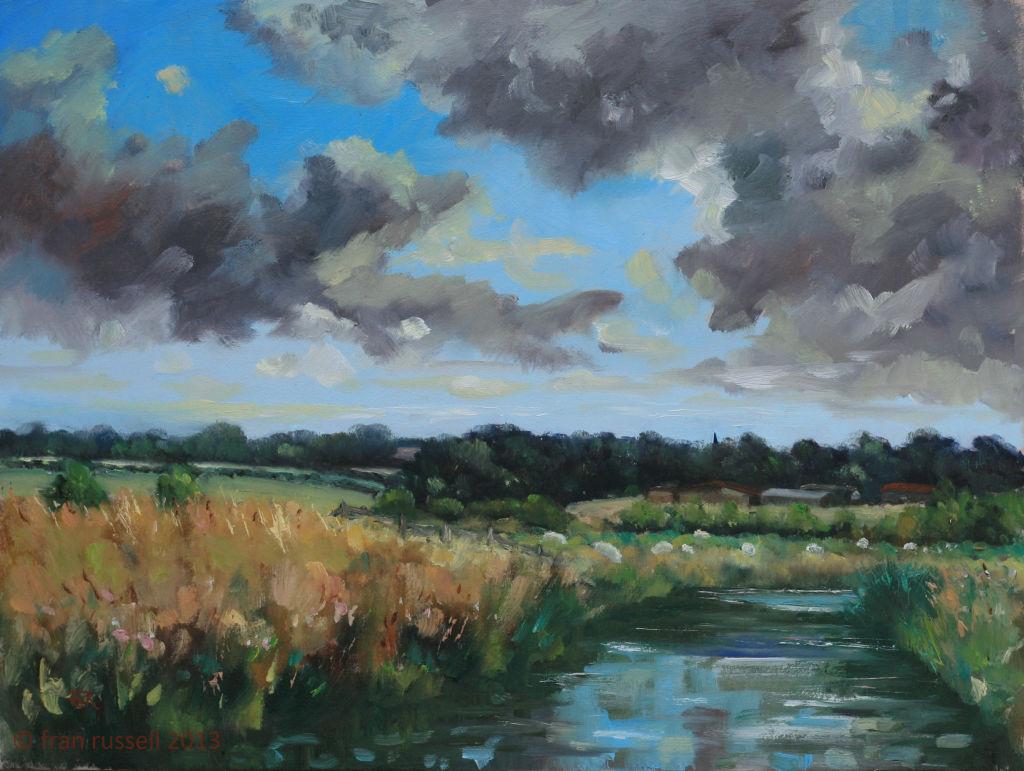 August sun & cloud, Newenden