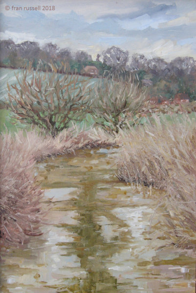 Cold day in March - the Rother at Bodiam