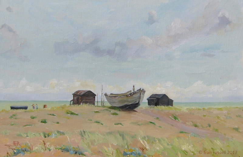 Fishermen's huts & boat, Dungeness