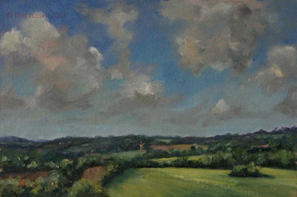 Spring view towards Sandhurst