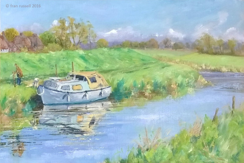 Tethering the boat, Newenden