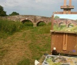 In the Footsteps of Turner - oil painting of Bodiam Bridge