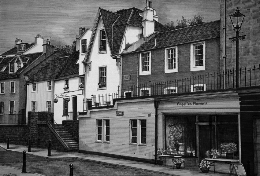 South Queensferry High Street from the West