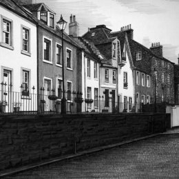 South Queensferry High Street from the East