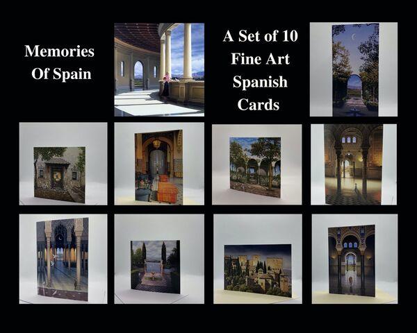 NEW! 'Memories of Spain' Gift Set of 10 Greetings Cards