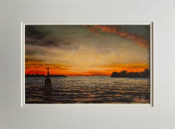 'LAGUNA SUNSET' Original Watercolour Painting