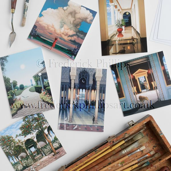 NEW! Set of 6 'Dream & Reality' Greetings Cards in gift bag
