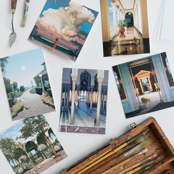 Set of 8 'Dream & Reality' Greetings Cards in gift bag