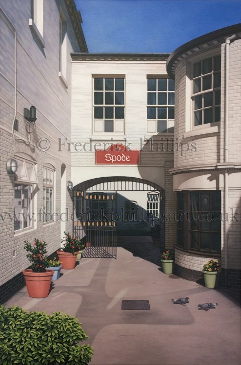 CARD: 'Courtyard (Spode Works series)'