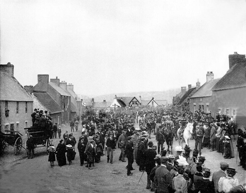 Coronation Parade Kirk Yetholm 13th May 1898