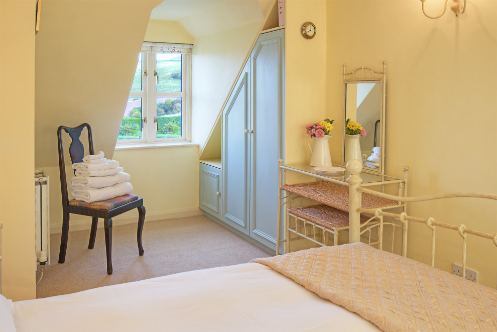Main bedroom with views of the Cheviot Hills