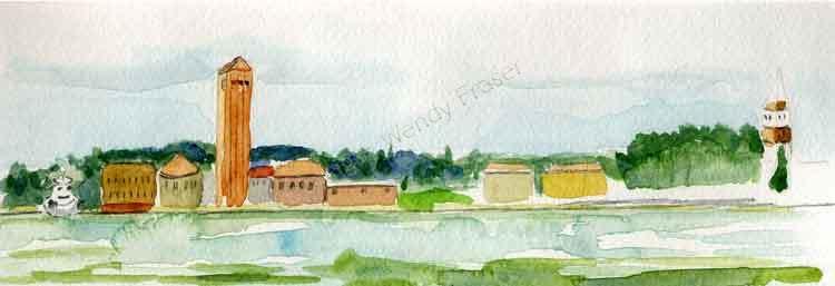 Sant Elena From Venice Lido