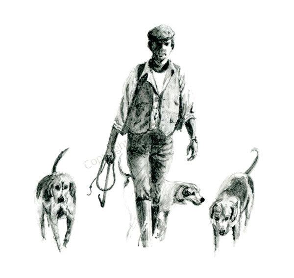Hound Walking
