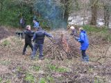 February 2013 - Clearing the woodland area