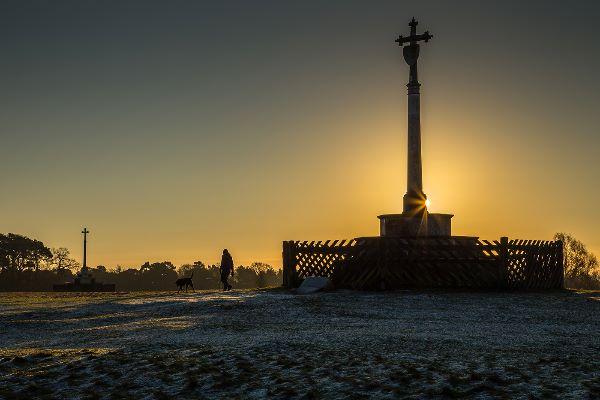 Ampthill Crosses at Sunrise