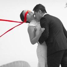 Bride red blindfold