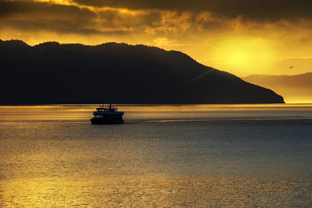 Golden Sunrise in the Inian Islands.