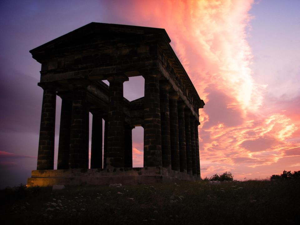 Penshaw Monument at sunset.