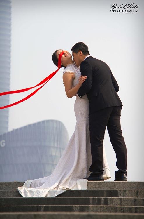 Shanghai top of steps blindfold