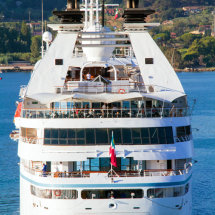 Star Breeze cruising into Portoferraio, Elba.