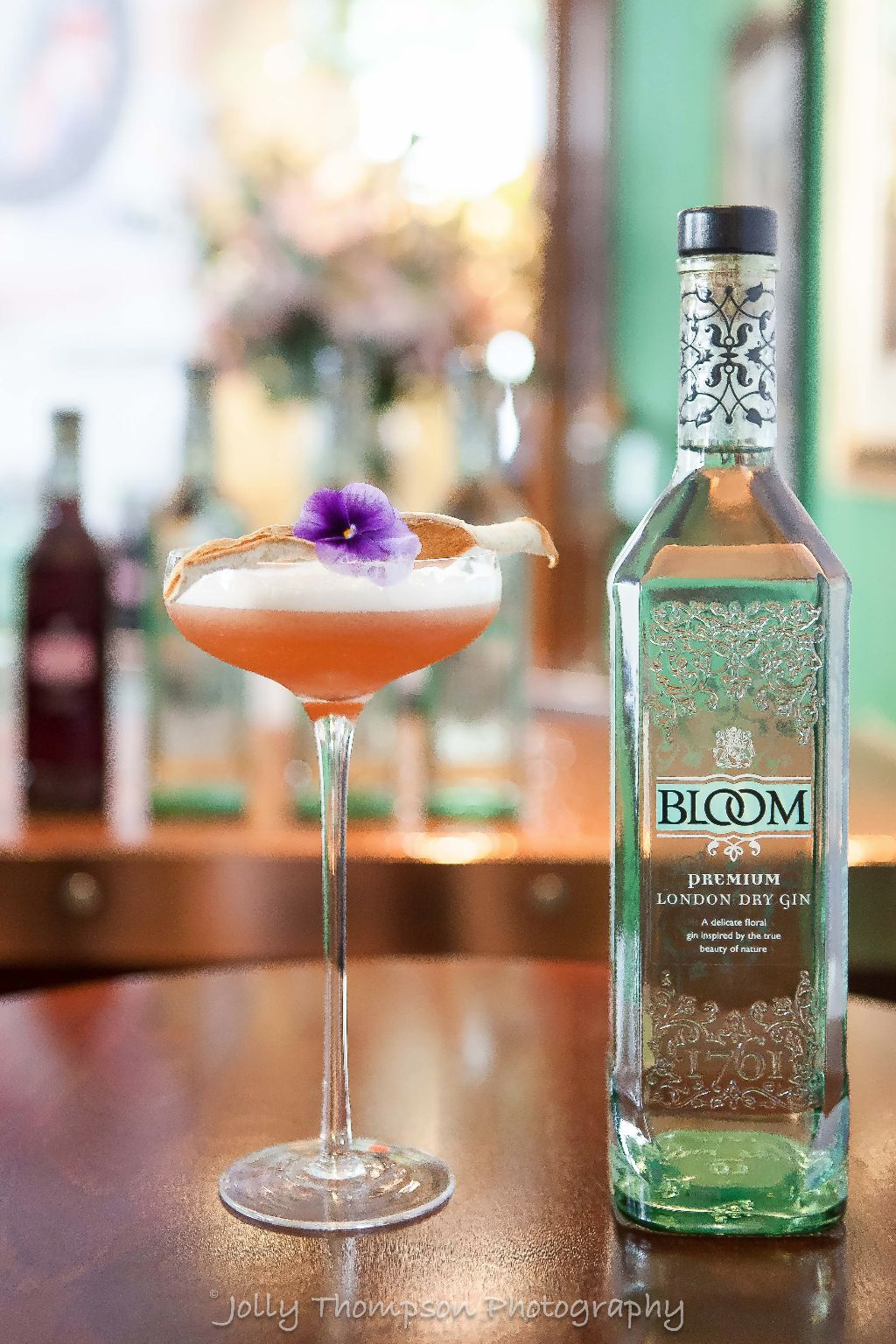 Bloom gin cocktail