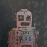 Robot IV Woodcut on paper, 22.5 x 30.5cm, edition of 14, 2012