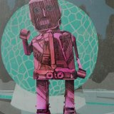 Robot IX Woodcut on paper, 30 x 43 cm, edition of 8, 2013