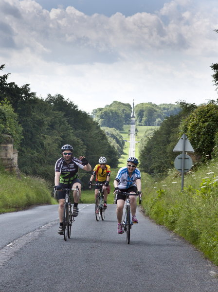 Paul and Simone approaching Castle Howard