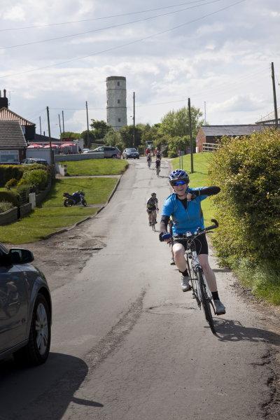 Amanda pleased to reach Flamborough Head
