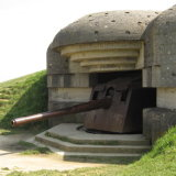 German guns above D-Day beaches
