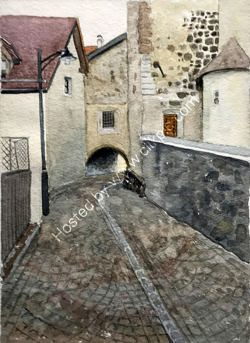 Barbian church passage 36x26cms